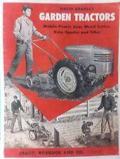 Sears David Bradley Db Walk Behind Garden Tractor Color Sales Brochure Catalog