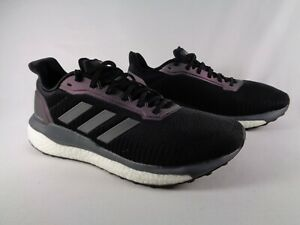 Adidas-Mens-Solar-Drive-19-Black-Grey-White-Running-Shoes-US-10-Boost-EF0789