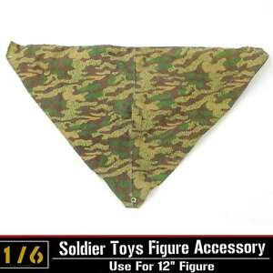 "1/6 Dragon WWII German Jungle Camouflage Poncho Rain Cap Clothes Fit 12"" Figure"