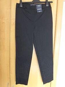 M-amp-S-7-8-Cotton-Stretch-Trousers-BNWT-Size-6-Medium