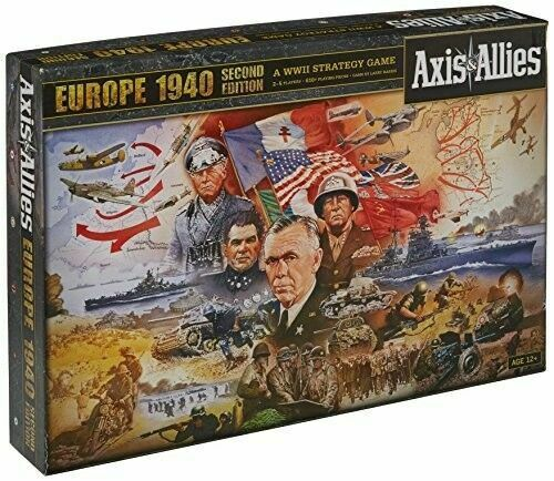 New and Sealed Axis /& Allies Europe 1940 Board Game Second Edition