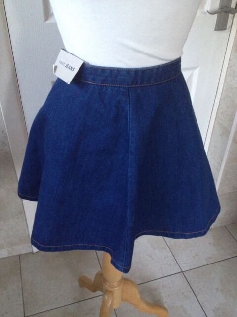 0daaedafb2 Next Ladies Blue Denim Short Flare Skirt Size 12. Brand New With Tags.
