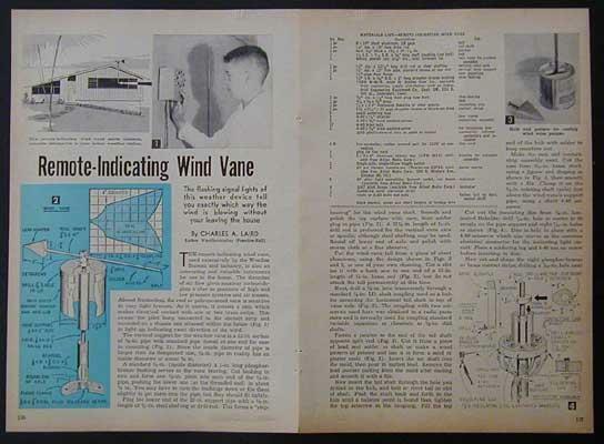 Remote Indicating Wind Vane Weathervane How-To build PLANS