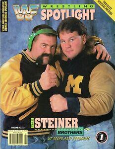 THE-STEINER-BROTHERS-WWF-WRESTLING-SPOTLIGHT-MAGAZINE-VOLUME-23-1993-WWE-SCOTT