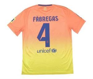 Barcelona 2012-13 Autentico AWAY SHIRT FABREGAS #4 (eccellente) M SOCCER JERSEY