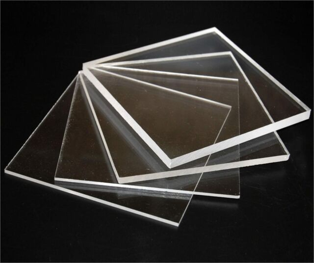 1 x Sheet Of Clear Solid Polycarbonate, Perspex  5mm thick, 400mm x 300mm