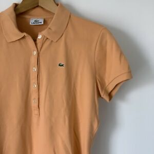 Womens-Lacoste-Orange-Polo-Shirt-Size-46-XL-Short-Sleeve-Top-Summer-Holiday-Tee