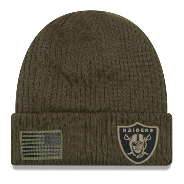 Salute To Service Nfl Oakland Raiders Knit Beanie Hat Football For Sale Online Ebay