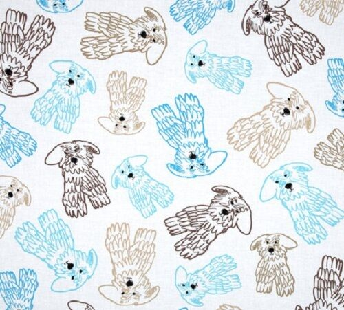 Fat Quarter Doodle Dog 100/% Cotton Quilting Fabric Benartex