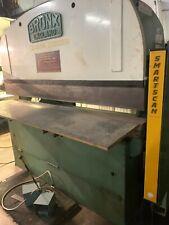 Hydraulic Press Brake Bronx Make 50 Ton 80 Good Condition With Lightguards