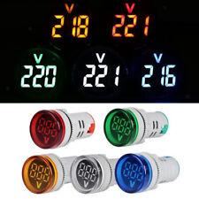 Ac 12 500v Led Digital Voltmeter Voltage Meter Round Pilot Led Indicator