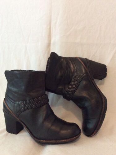 Botas de tobillo cuero 5d Clarks tamaño 5 negro rrdTwqxpg