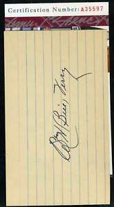 Bill Terry Jsa Coa Autograph 3x5 Index Card Hand Signed Authentic