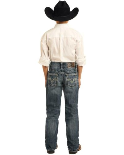 BB-3417 Rock and Roll Cowboy Boys/' BB Gun Medium Vintage Bootcut Jeans