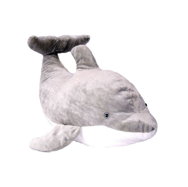 Giant Jumbo Dolphin Stuffed Animal Plush Toy Wild Republic Length