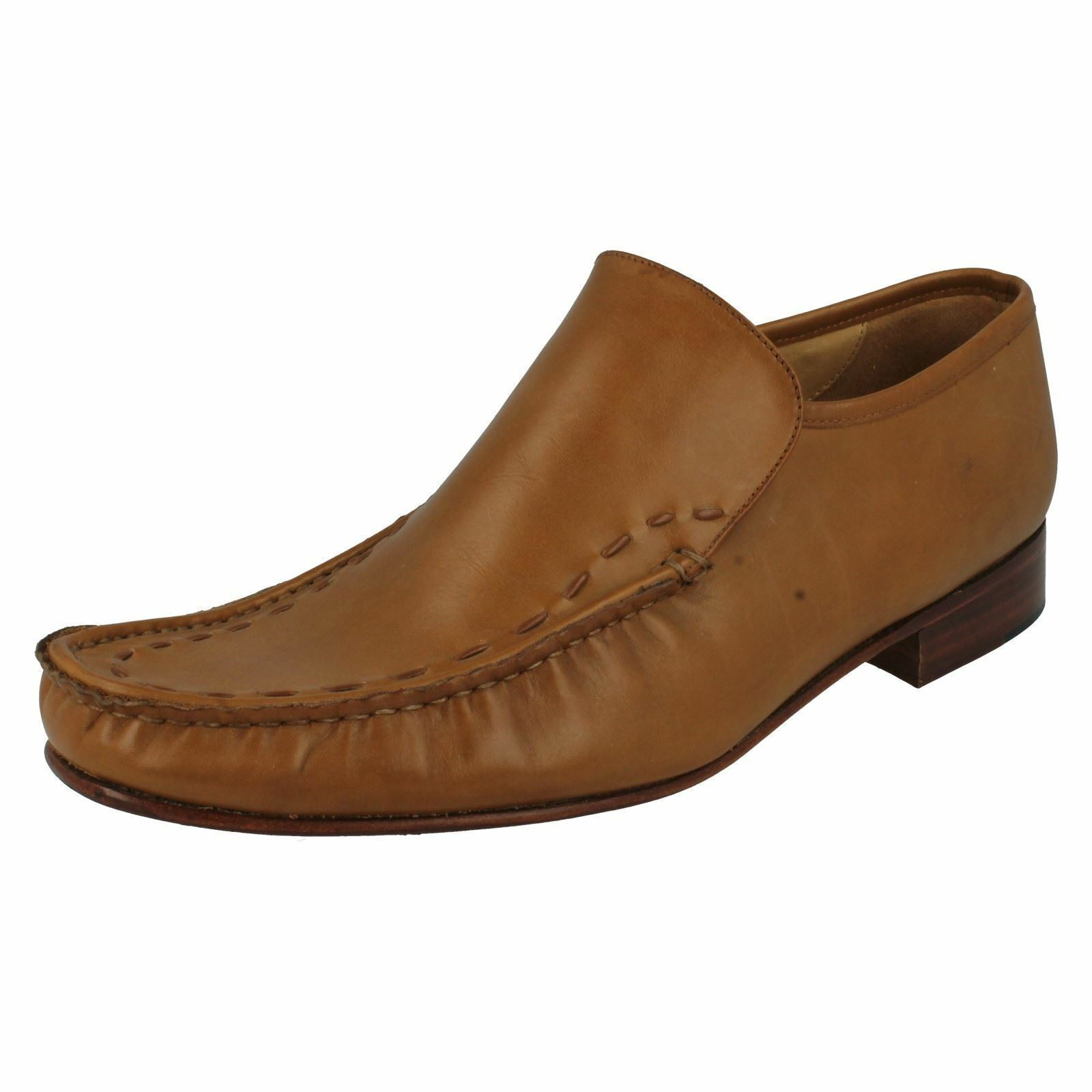 Grenson MAINE  9683-02 Mens Tan Leather Slip-on Moccasin shoes (36B) (Kett)