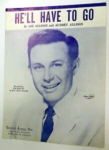 JIM REEVES Sheet Music HE'LL HAVE TO GO Central Publ. 60's COUNTRY Pop Vocal   eBay