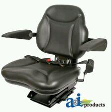 Big Boy Suspension Tractor Seat with Armrests -Black