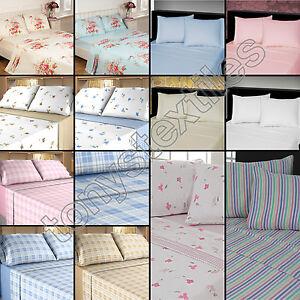 100/% Brushed Cotton Flanetlette King Flat Sheet in Pink
