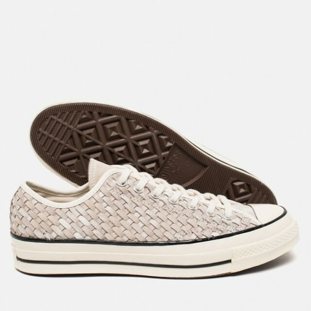 72d78ceb9100 Converse Chuck Taylor All Star 70 Woven Suede Grey White Mens Casual ...