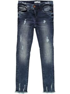 NAME-IT-Maedchen-Skinny-Denim-Jeans-Hose-Tendi-used-blau-Groesse-92-bis-152