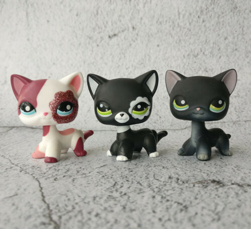 LPS #994#2118#2249 Littlest Pet Shop Black Cat Hasbro Collection Sparkle Kitty*3