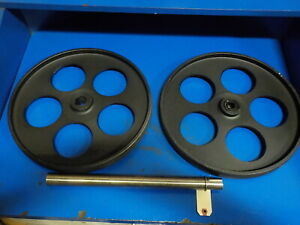 "BANDSAW WHEELS BANDWHEELS 16"" PAIR W SHAFT  BRAND NEW REAL BANDWEELS FOR SAWMILL"