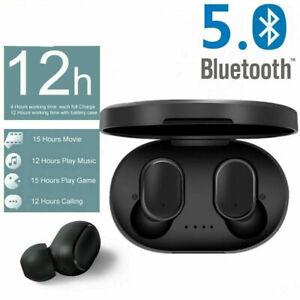 TWS A6S Écouteurs Bluetooth 5.0 SansFil Stéréo Casque pour Xiaomi Redmi noir FR