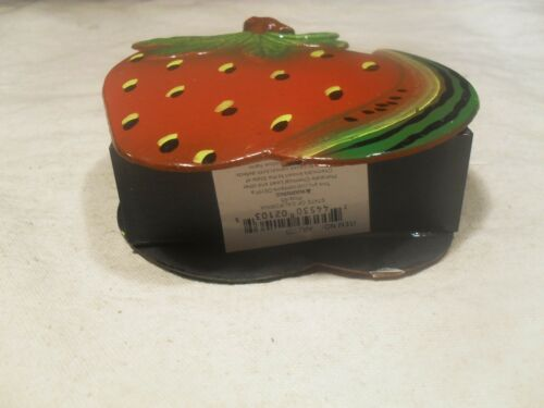 New Plastic ~ Strawberry and Watermelon Slice Napkin Holder ~ Hand Painted
