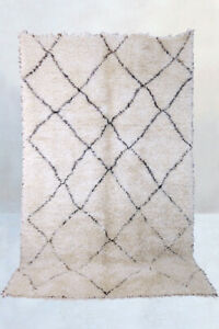 Betere New MOROCCAN BENI OURAIN RUG Mid Century Modern Berber Rug Made in GG-12