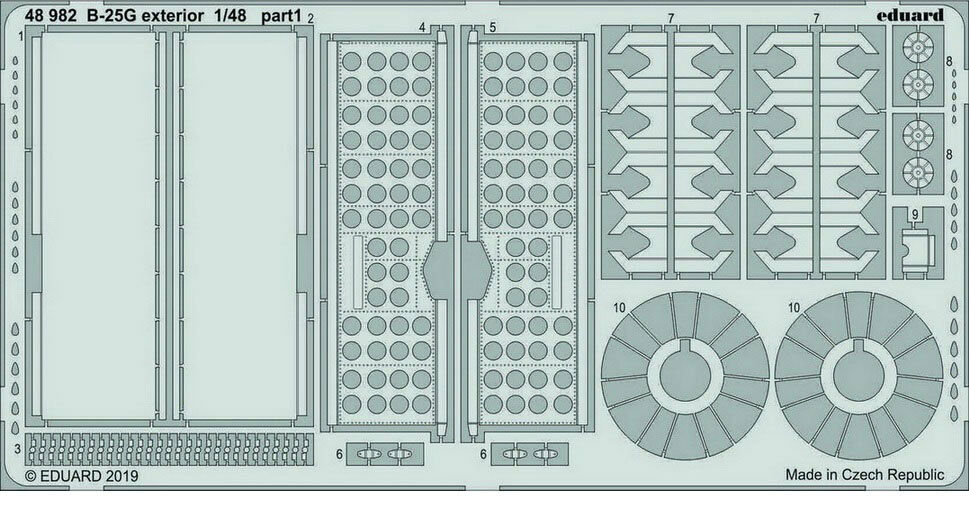 1 48 North American B-25G Mitchell Exterior PE Detail Parts for Italeri kits