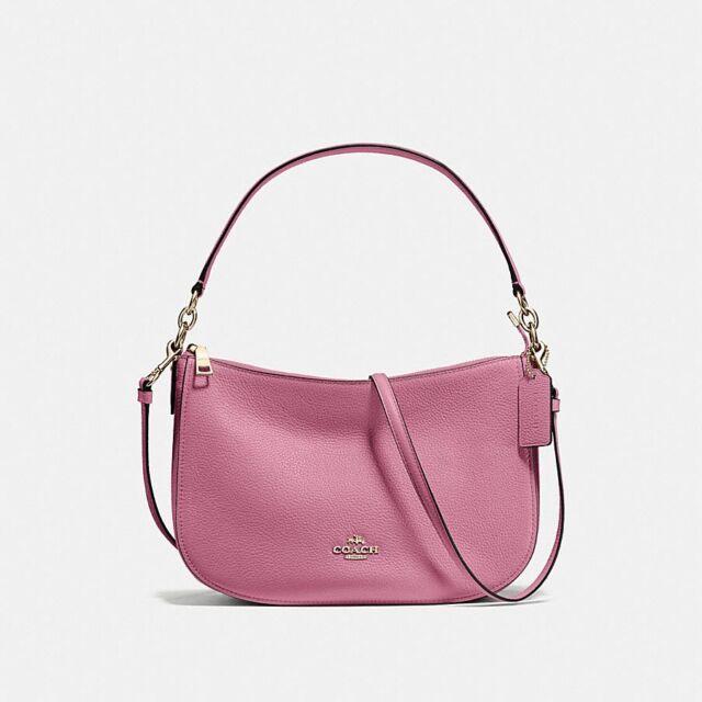ed945044e1ec Authentic Coach Pebble Leather Chelsea Pink Hobo Crossbody 56819 for ...