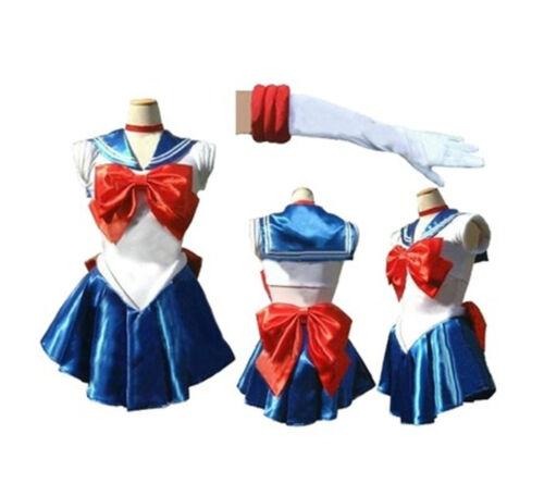 Sailor Moon Tsukino Usagi Sailor Uniform Dress Suit Cosplay Costume Outfit