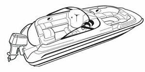 Details about Tahoe 215 O/B Deckboat Trailerable Deck Boat Cover