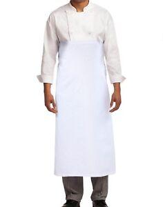 Blanc-Oreillettes-Tablier-de-Great-Knot-100-Coton-Pack-5-Cuisine-Chef-Commerce