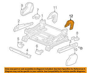 TOYOTA 72137-0C070 Seat Track Cover Left
