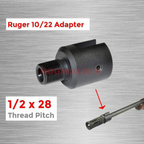 """1//2/"""" x28 Barrel End Threaded Pitch Adapter 10//22 CNC Alloy Steel Muzzle Tool Set"""