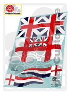 Banderas británicas//British flags//Britische flaggen-Playmobil Stickers//Aufkleber