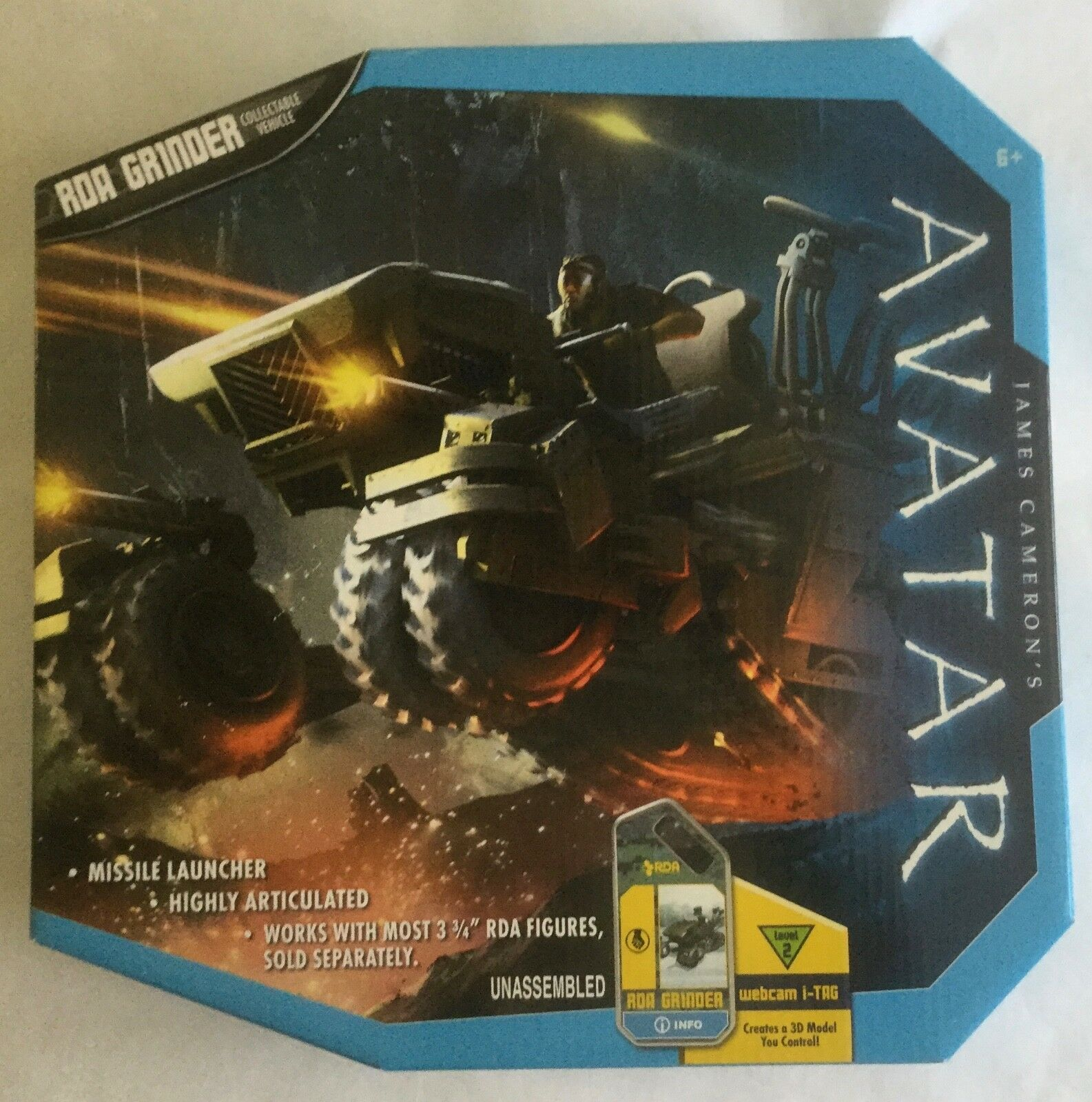 RDA GRINDER AVATAR MISB James Cameron's 4 inch vehicle for action figures