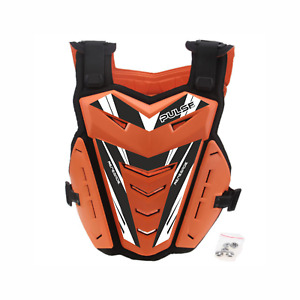 PULSE-BLACK-amp-ORANGE-MOTOCROSS-MX-ENDURO-BMX-MTB-MOUNTAIN-BIKE-CHEST-PROTECTOR