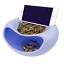 Multi-fonction élégant Snacks Boîte de rangement double couche Récipient Foyer plaque