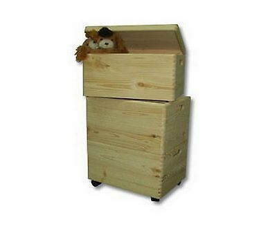 Large Natural Wooden Storage Box Crates Toy Boxes Set Kids Bedroom Trunk Boxes