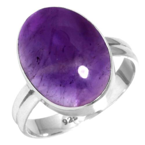 Natural Amethyst Ring 925 Sterling Silver Handmade Jewelry Size 8.5 Od09078