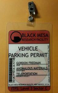 Portal Parking Permit - Black Mesa Gordon Freeman prop