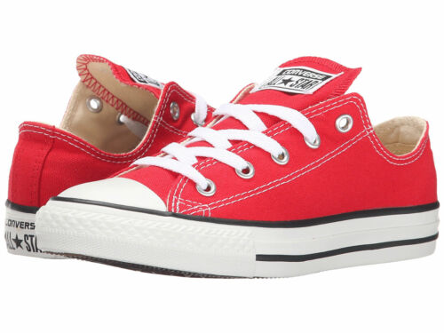 NEW KIDS GIRLS BOYS CONVERSE ALL STAR OX RED WHITE 3J236 ORIGINAL