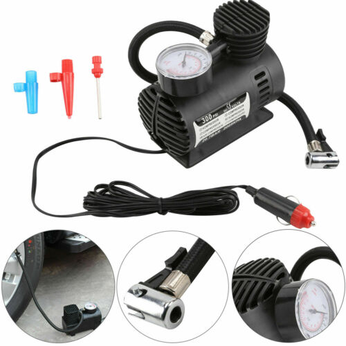 12V CAR ELECTRIC MINI COMPACT COMPRESSOR PUMP BIKE TYRE AIR INFLATOR 300PSI UK