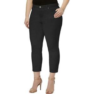 Charter-Club-Women-039-s-Plus-Black-Bristol-Tummy-Control-Capri-Jeans-SIZE-14W
