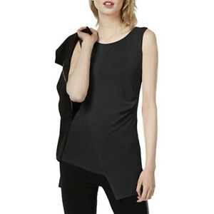 NWT BAR III Women's Sz XS Black Ruched Envelope Tank Top NWT Asymmetrical $45