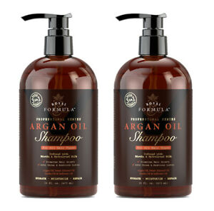 2-X-Moroccan-Argan-Oil-SHAMPOO-Infused-with-Biotin-for-Hair-Growth-2X-16-Oz