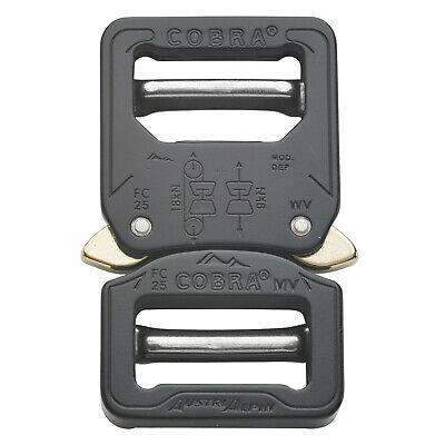 Austrialpin 25mm Black Cobra Buckle - Male Adjustable Female Adjustable Fc25kvv